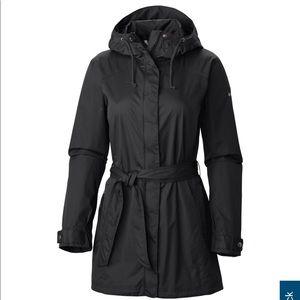 """Like New Columbia """"pardon my trench"""" rain jacket"""